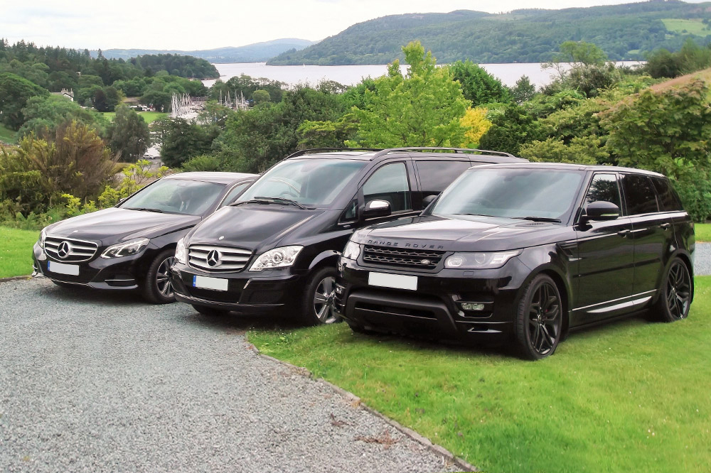 A range of the luxury Lakeland Chauffeurs vehicles to take you on your tour of the Lake Distirct